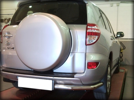 "Toyota Rav-4 2010-2012г.в.-Защита заднего бампера ""уголки"" d-60"